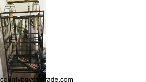 Large metal birdcage like new